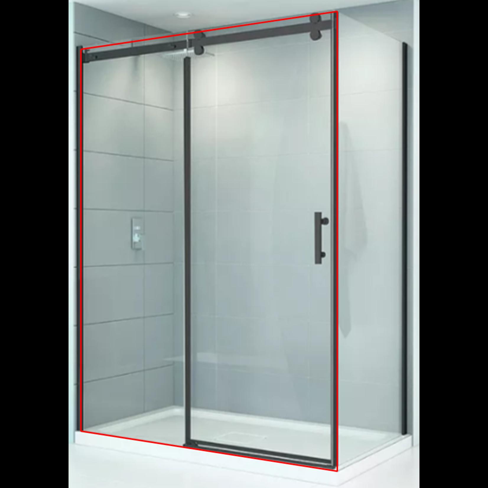 Porte de douche réversible 48'' noir mat série quartz CDC 78067