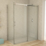 Reversible chrome shower set 32x60 CDC