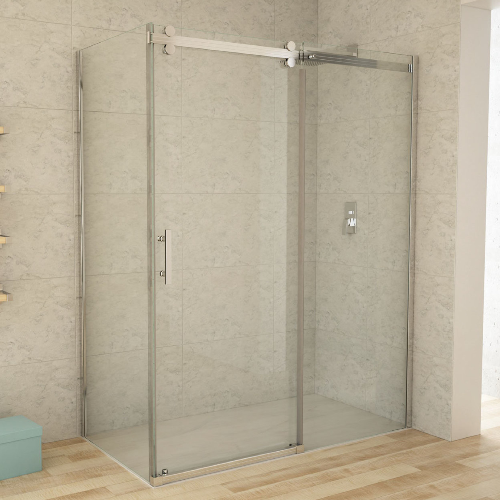 Ensemble de douche réversible 32x60 chrome CDC
