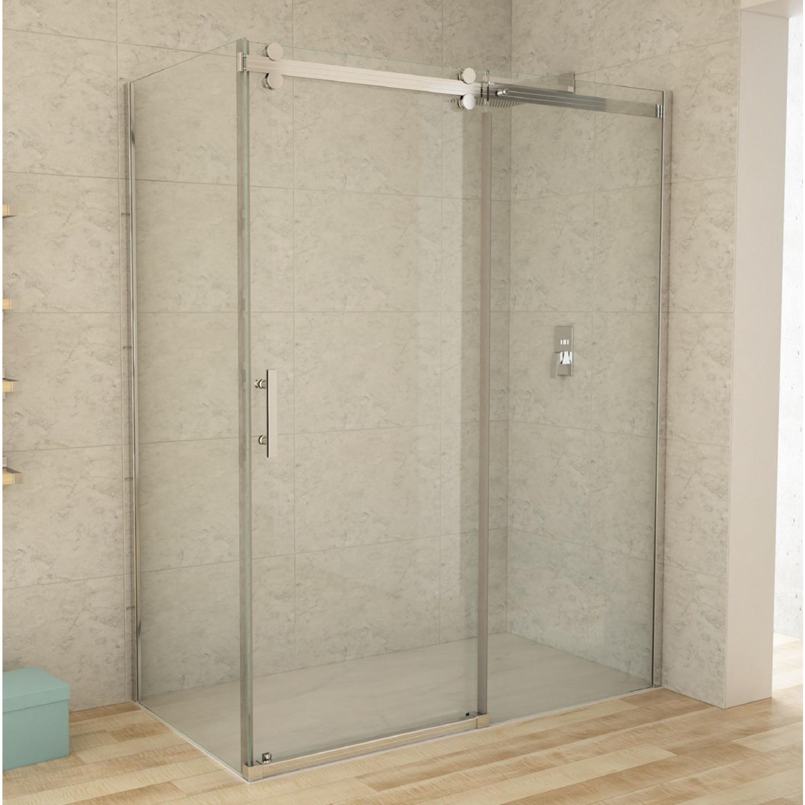 Reversible chrome shower set 32x60 CDC