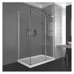 Reversible shower set 32x60 chrome Caruso Nautika series