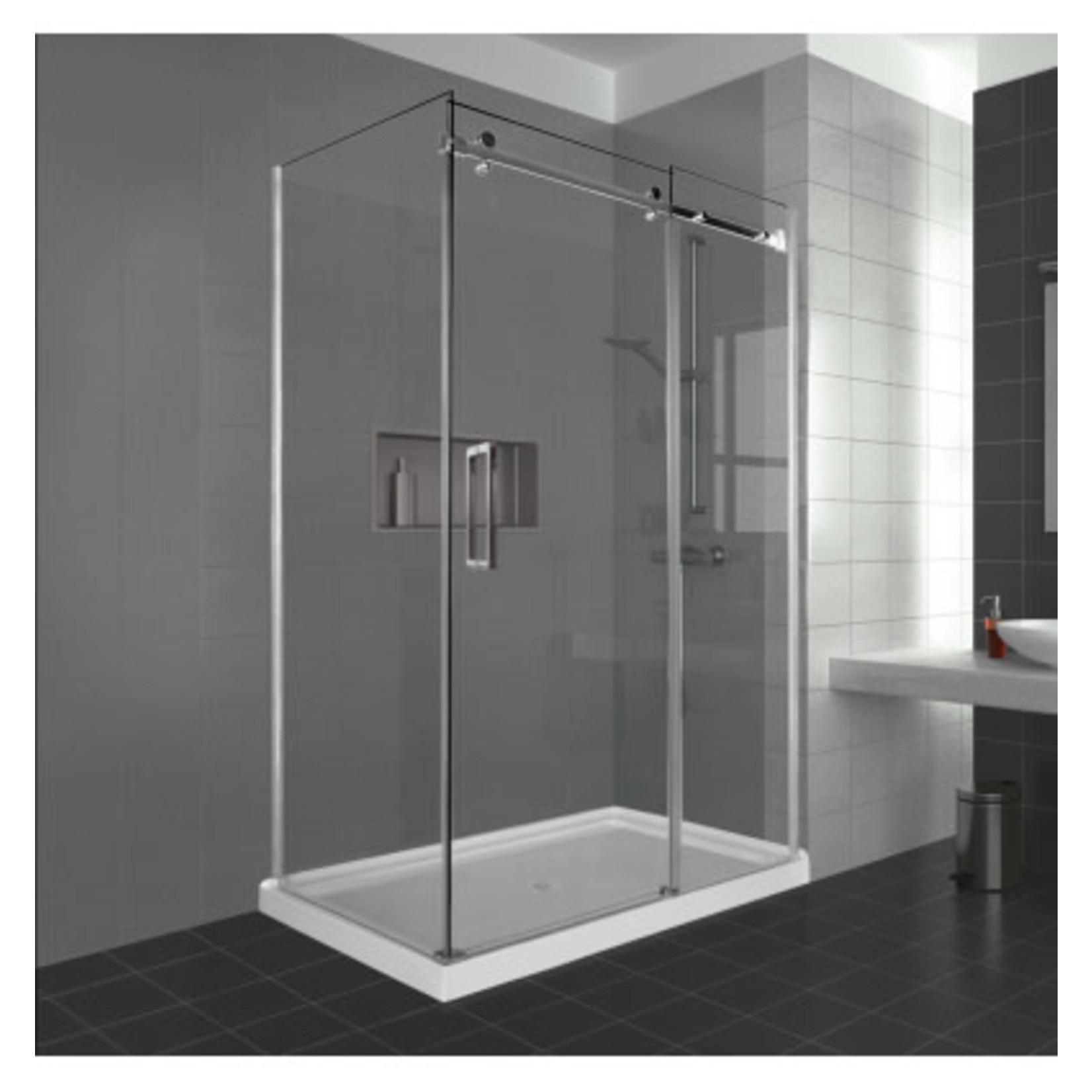 Reversible shower set 36x48 chrome Caruso Nautika series
