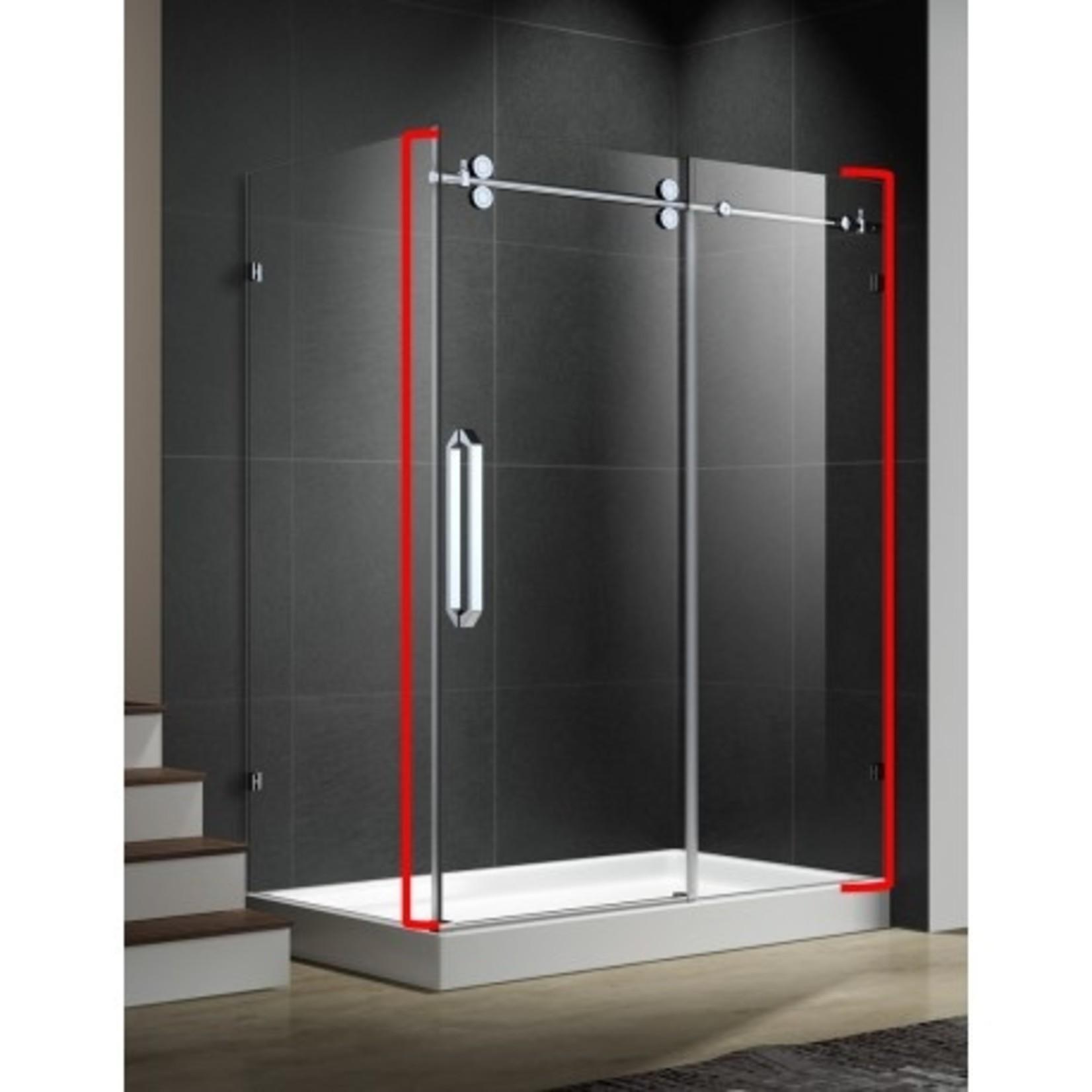 Porte de douche réversible  60'' chrome 10mm série Apo DI