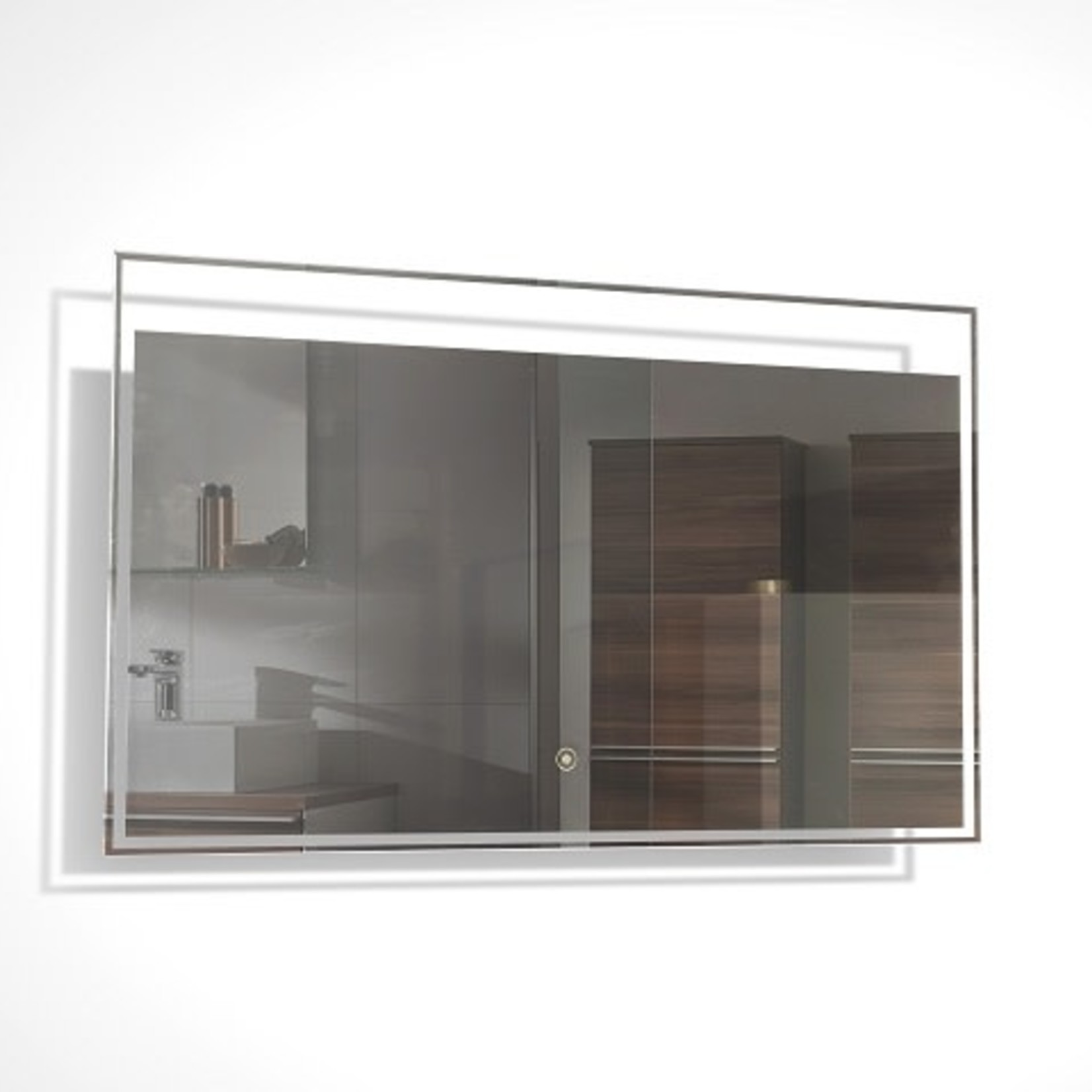 Mirror with integrated LED lighting