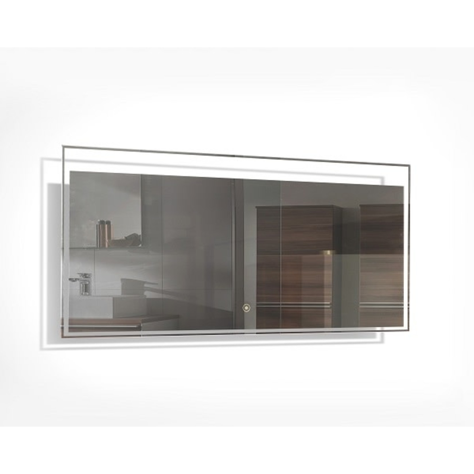 Miroir à éclairage LED intégré