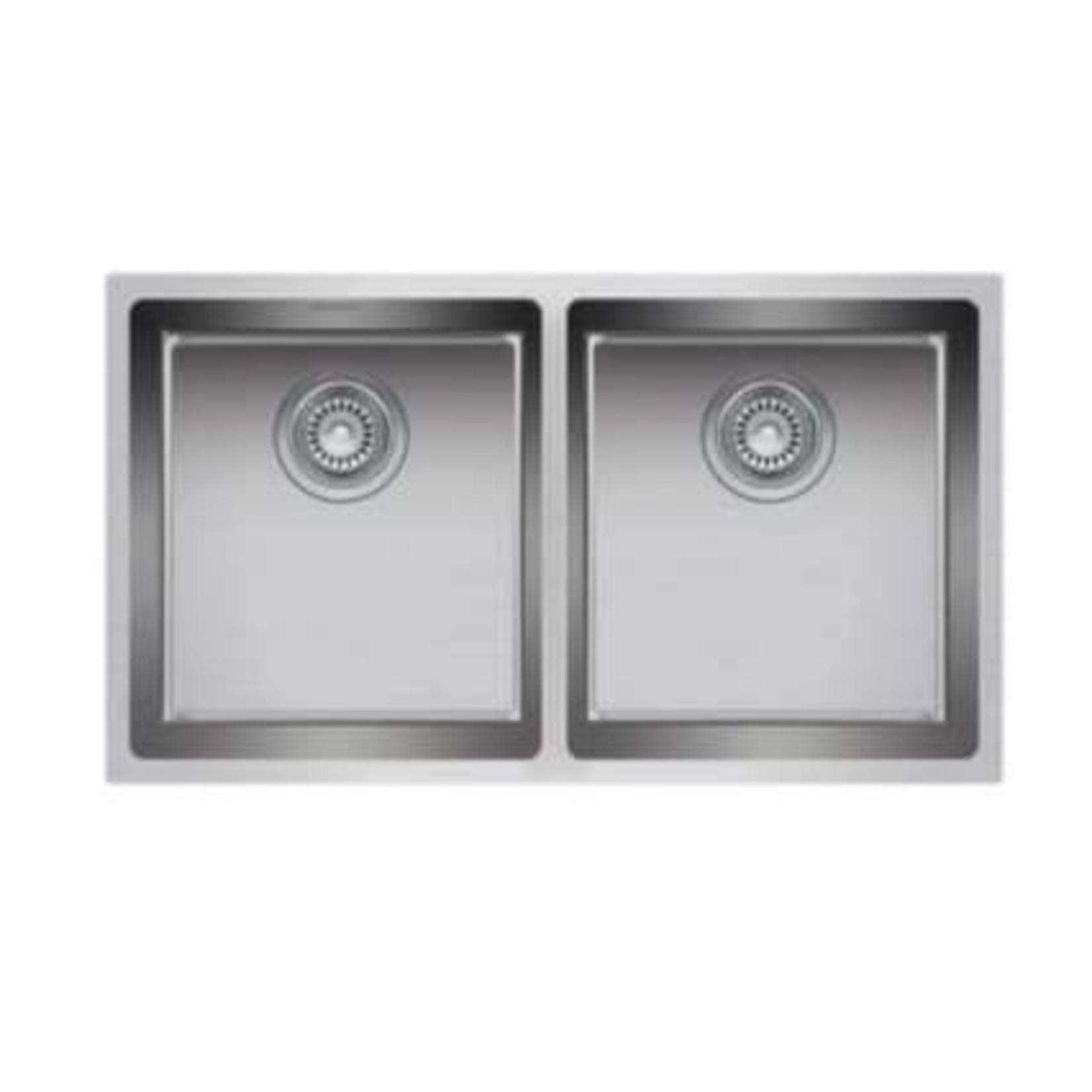 """Double bowl undermount kitchen sink 31 """"x 18"""" x 9/9 """"ZR200"""