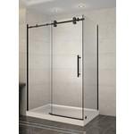Luhö Reversible shower set 36x48 matt black Zirkon Luho series