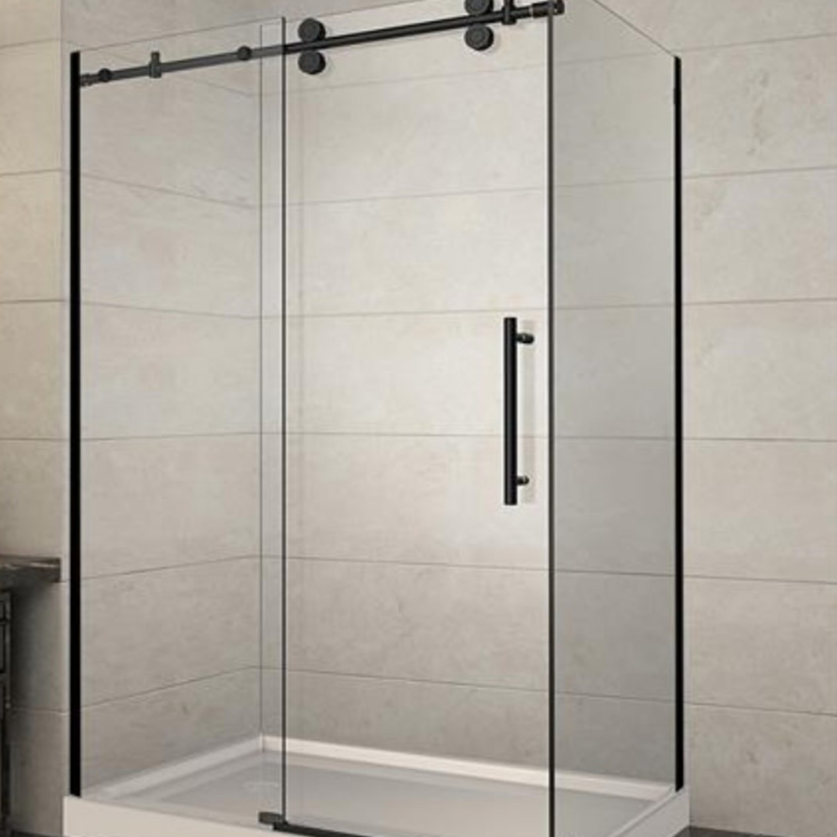 Luhö Reversible shower set 36x48 matt black Zirkon Luho series