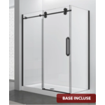 Reversible shower set 32x48 matt black Zirkon Apo series