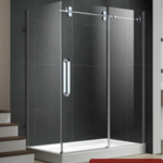 Reversible shower set 32x60 chrome Zirkon Apo series