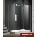 Reversible shower set 32x60 chrome Zirkon Apo series