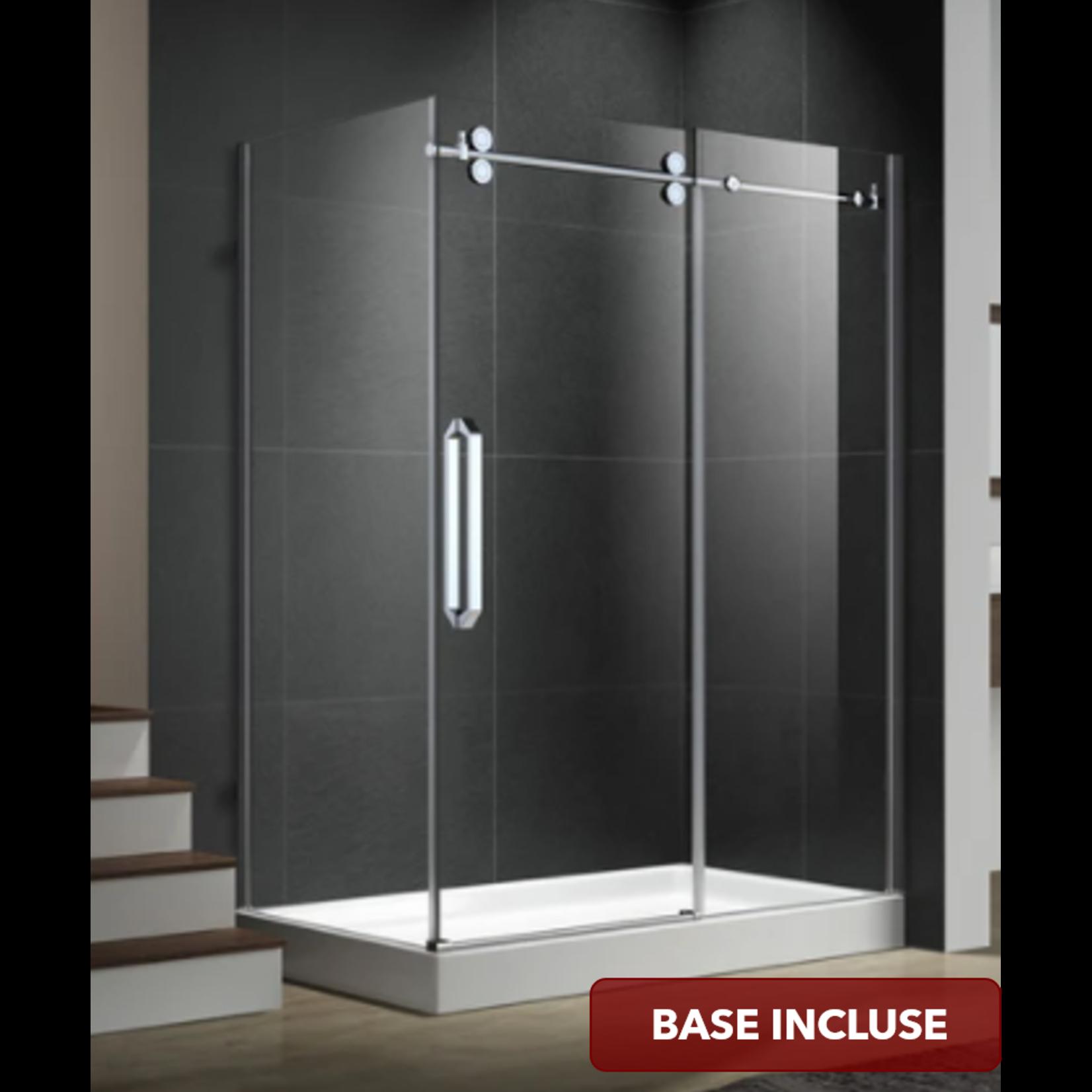 Reversible shower set 36x48 chrome Zirkon Apo series