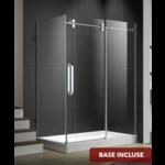 Reversible shower set 36x60 chrome Zirkon Apo series