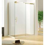 Reversible shower set 36x60 Brushed gold Quartz series Jade bath
