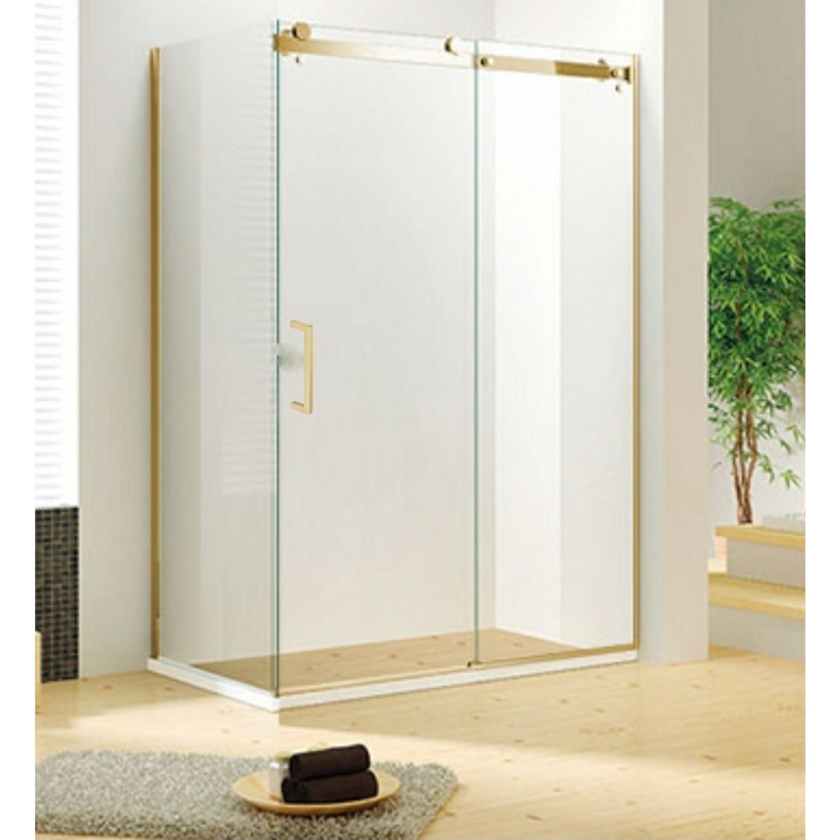 Ensemble de douche réversible 36x60 Or brossé série Quartz Jade bath