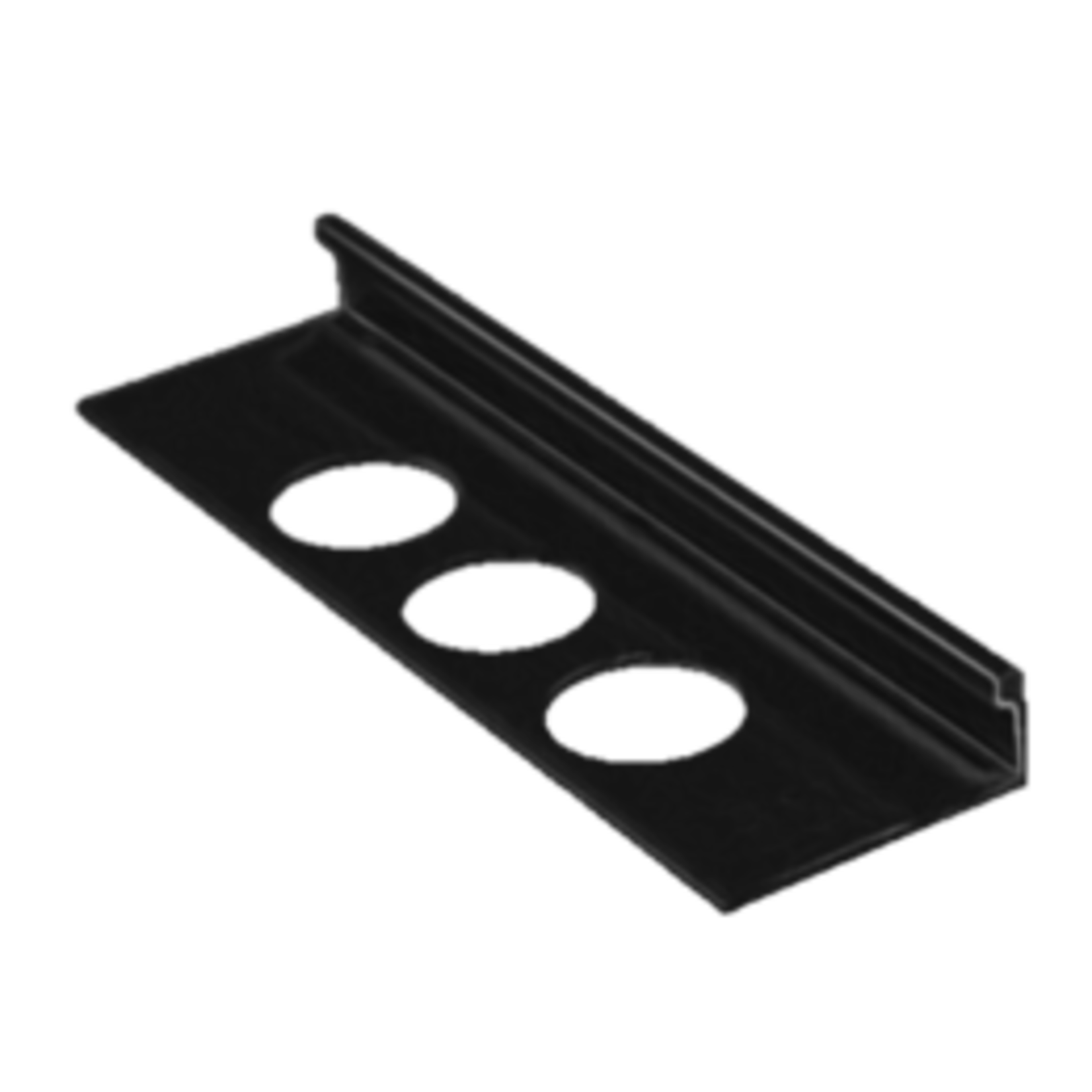 Moulure de céramique en aluminium 3/8''(10mm) Noir OL