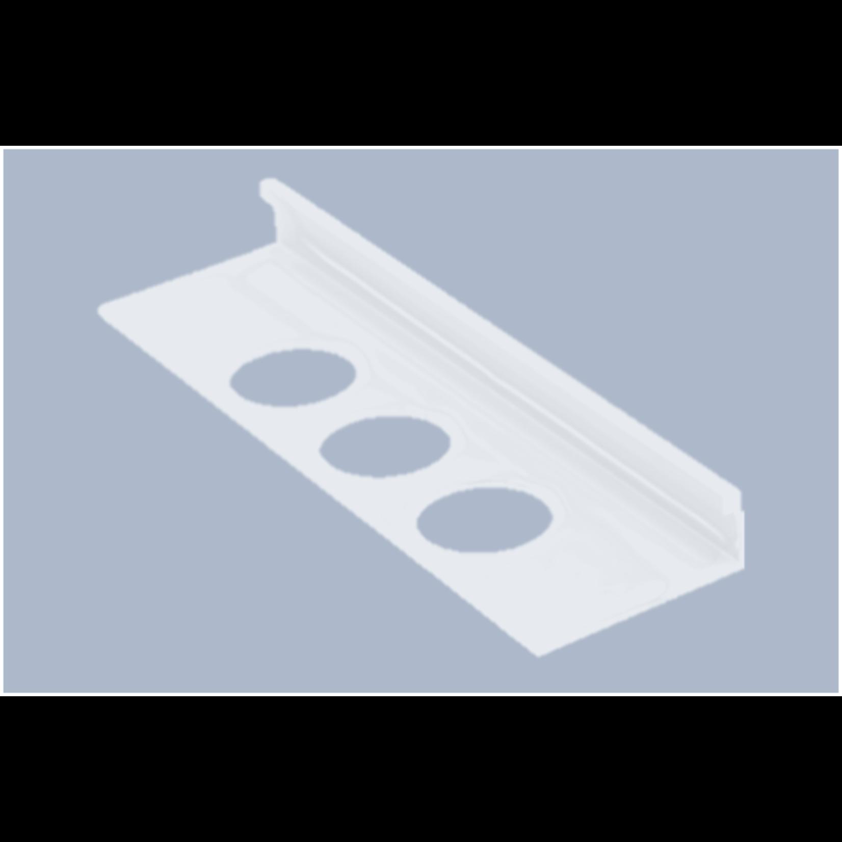 Moulure de céramique en aluminium 1/2''(12.5mm) Blanc OL
