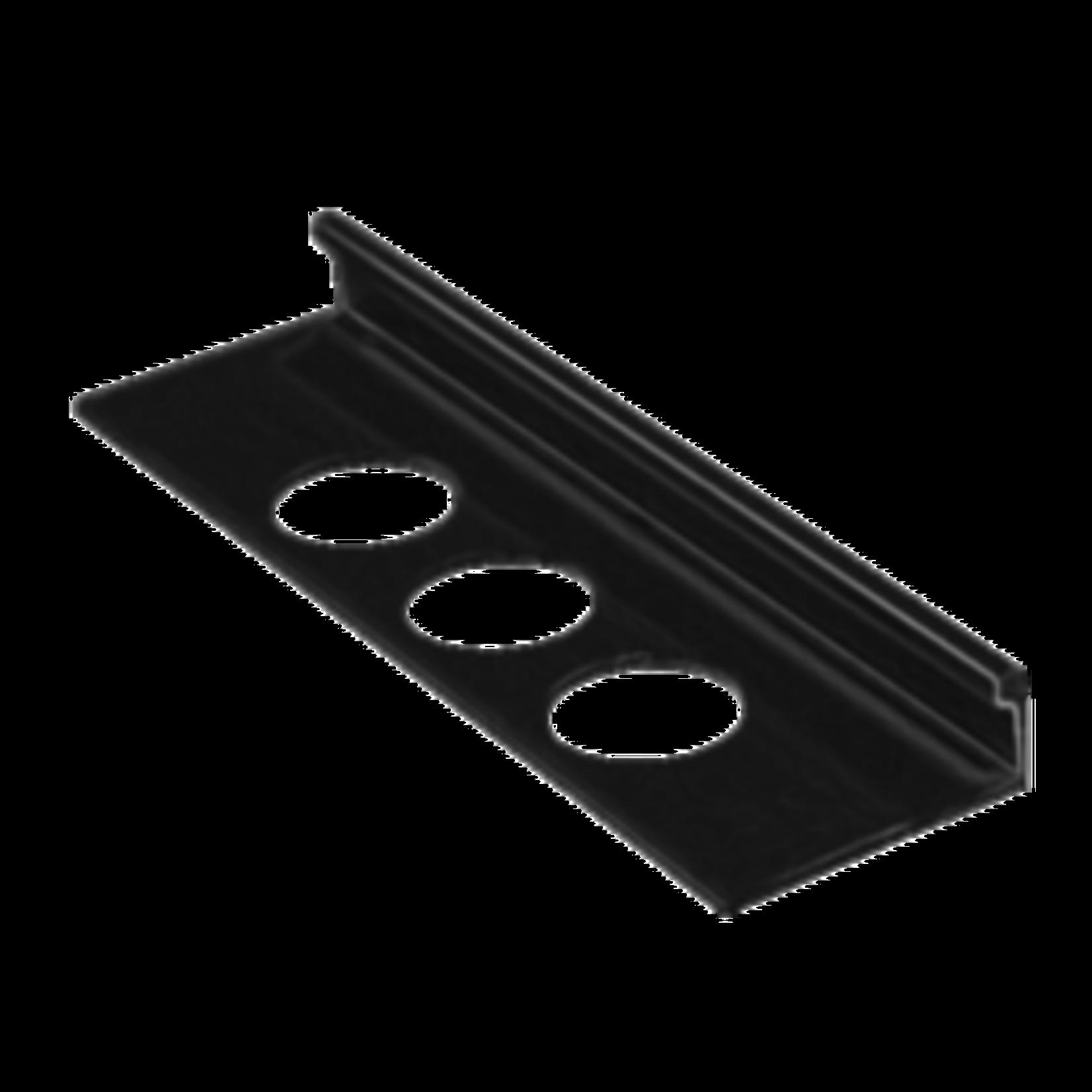 Moulure de céramique en aluminium 1/2''(12.5mm) Noir OL