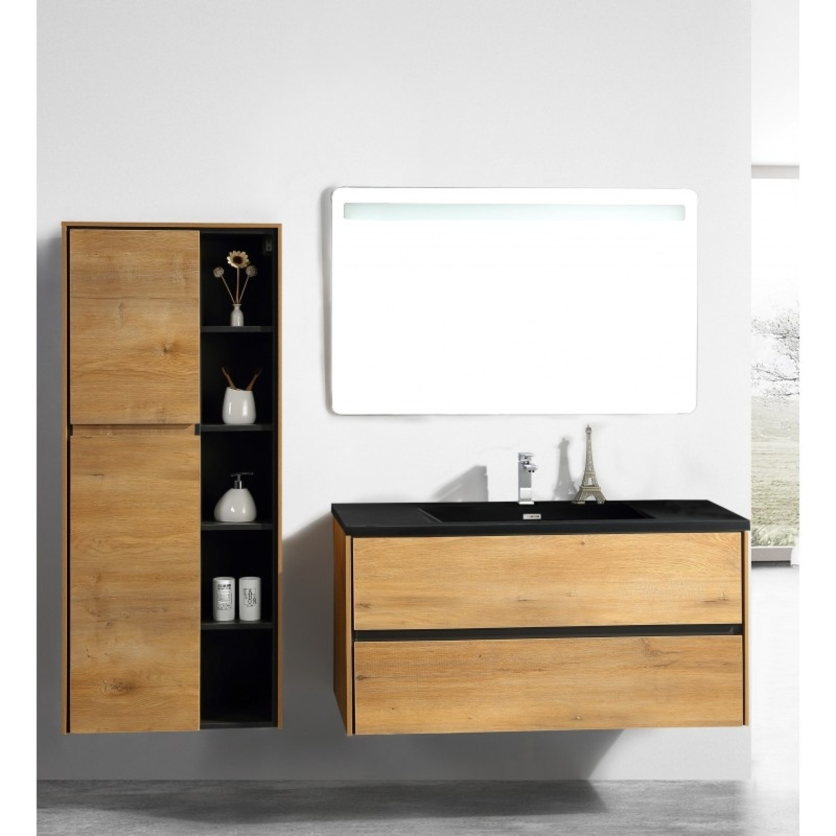48 '' European oak floating vanity