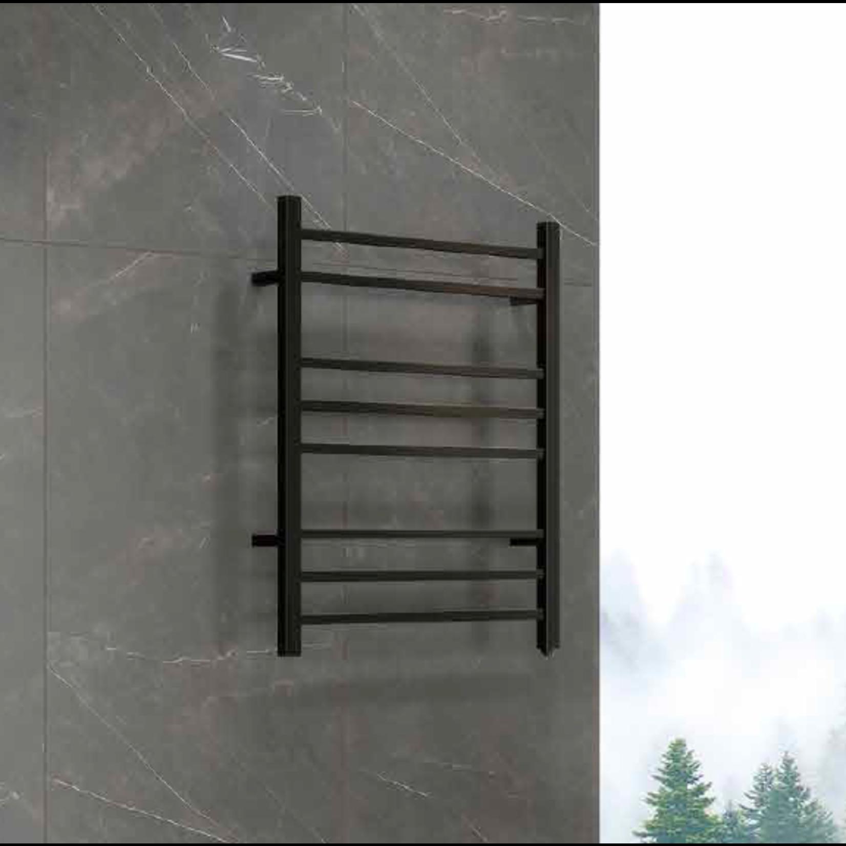 Black heated towel rail 007-EB