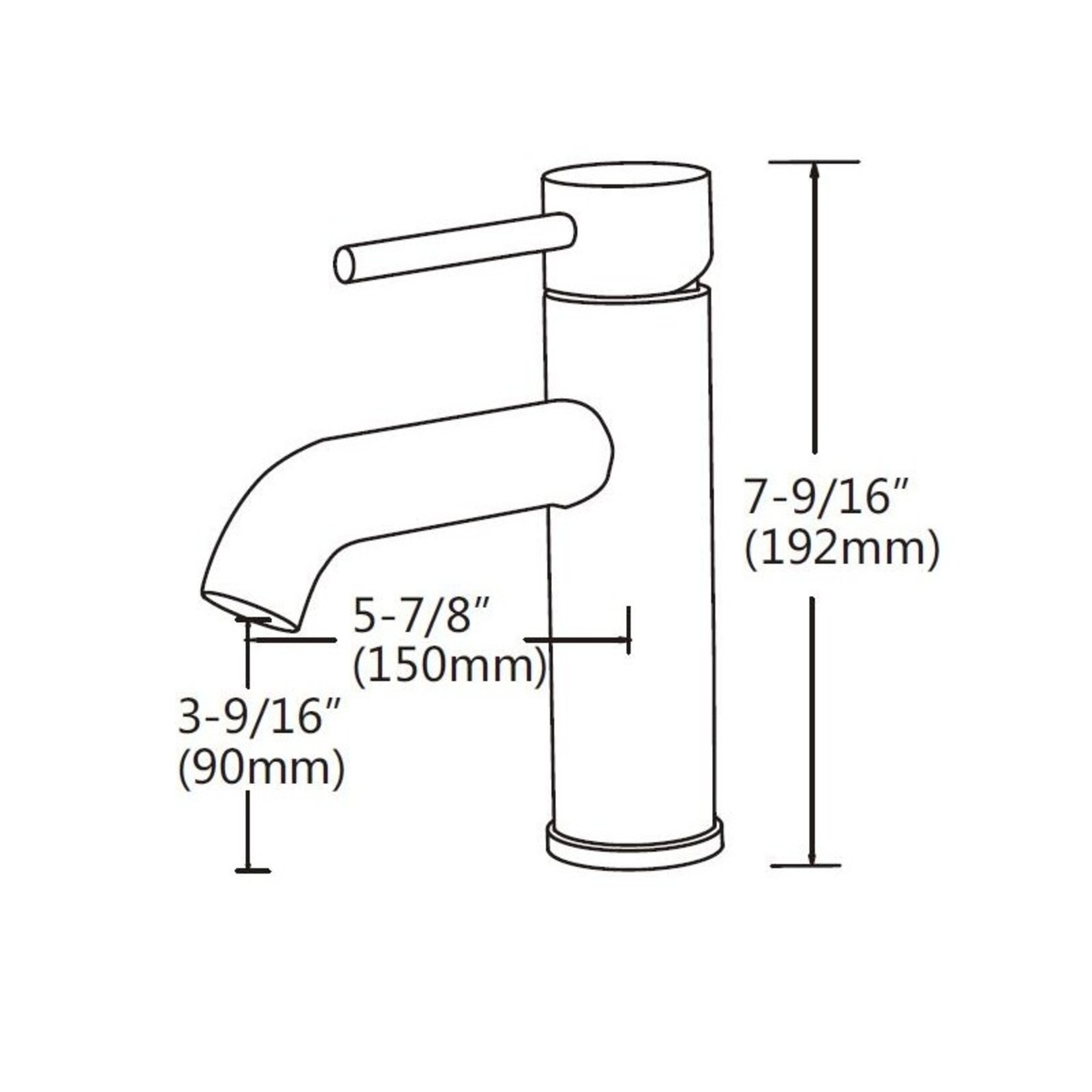 Elyn collection chrome sink faucet 113-10