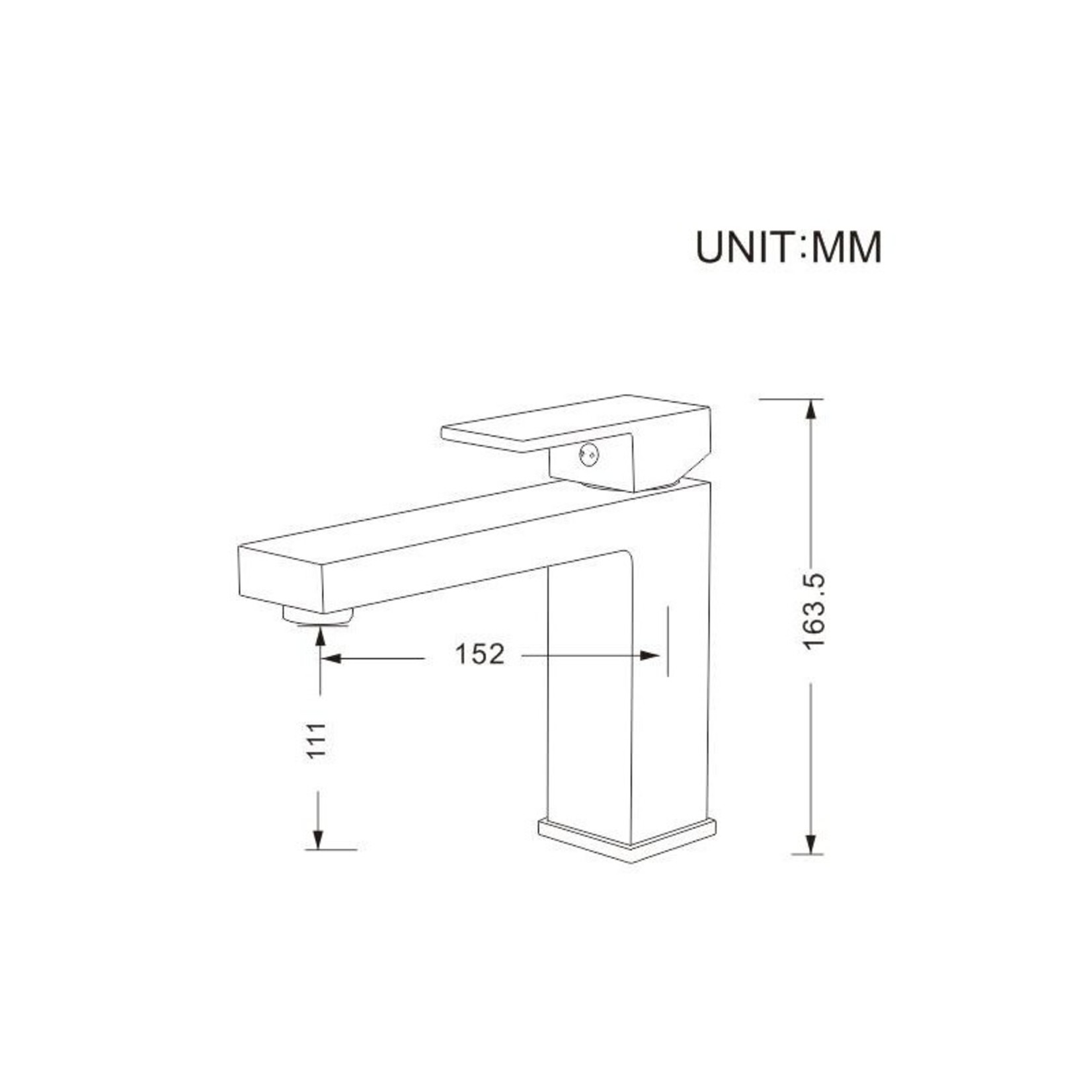 Robinet de lavabo chrome collection Kimmi 145-10