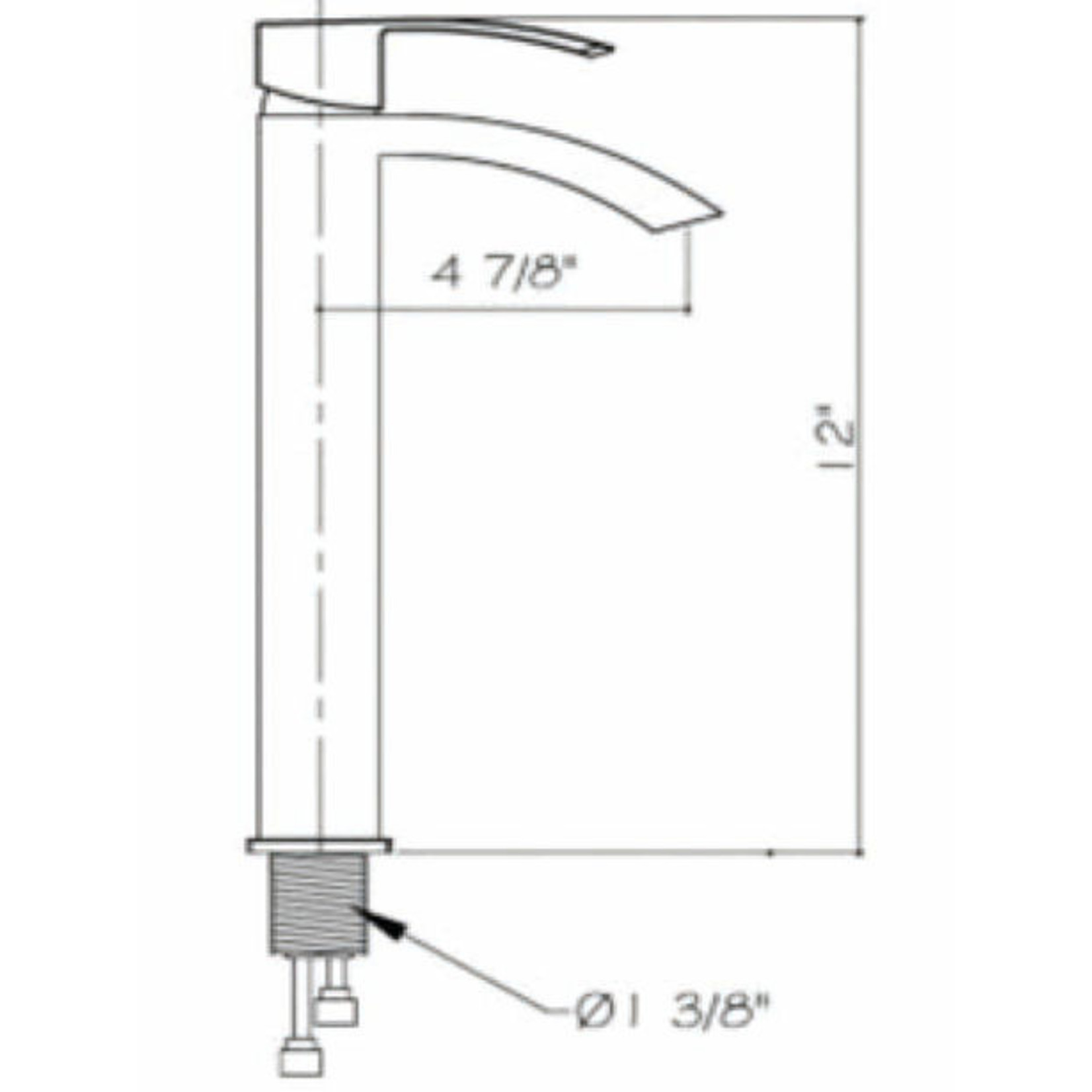Robinet pour vasque CDC 77191 Chrome