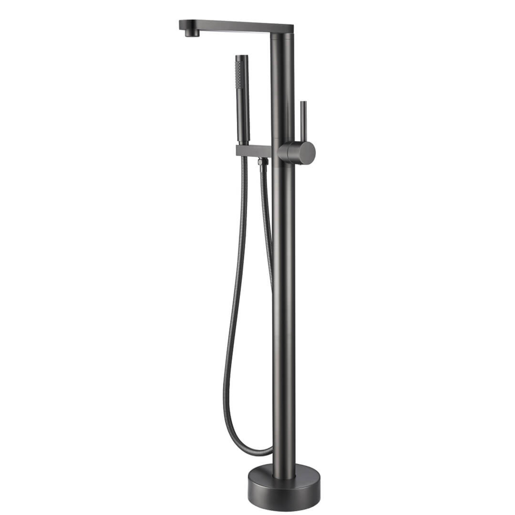 Dark metal freestanding bathtub faucet Vinny Jade Bath collection 8415-17
