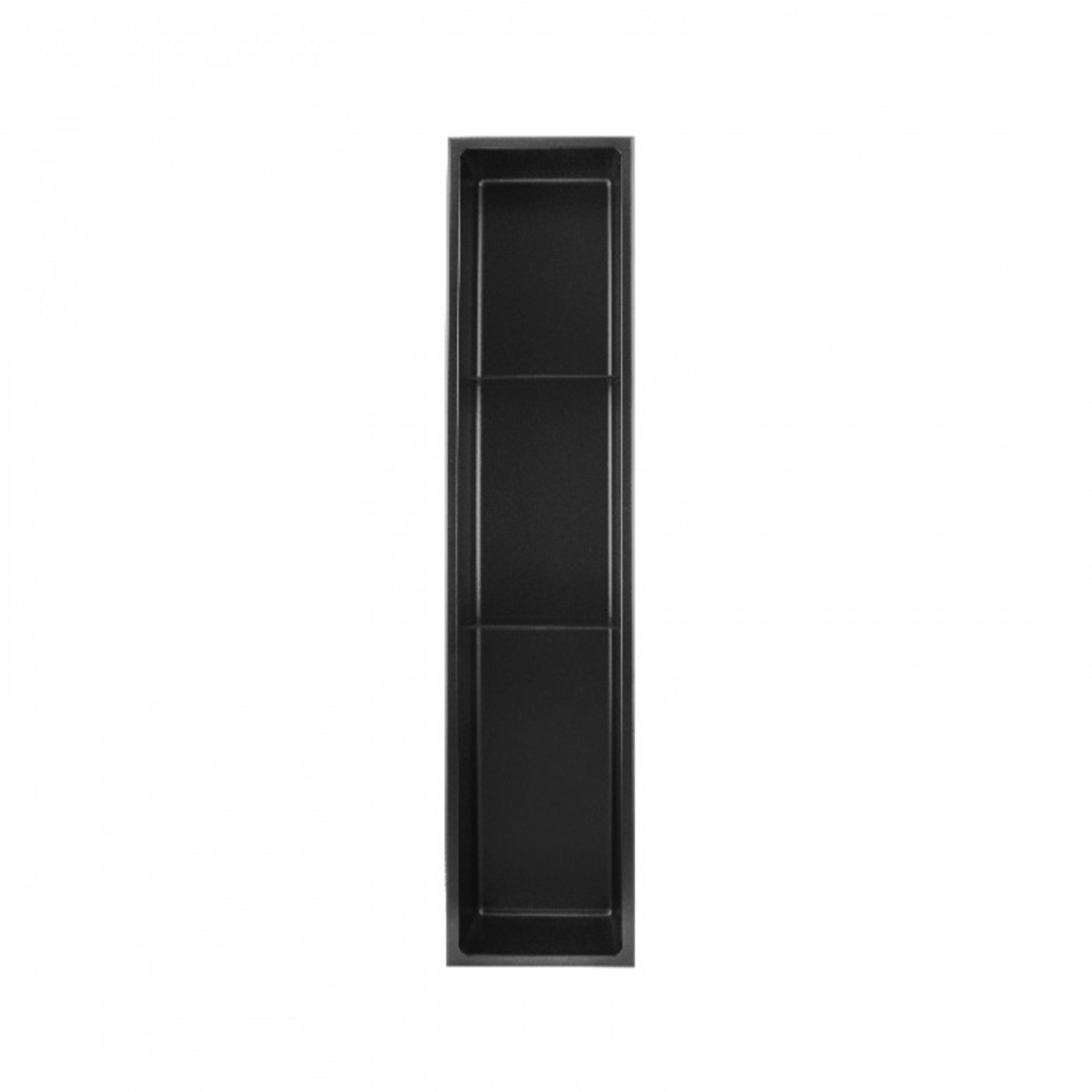 Wall niche with 2 shelves 36x8 Black Nautika NI368TB