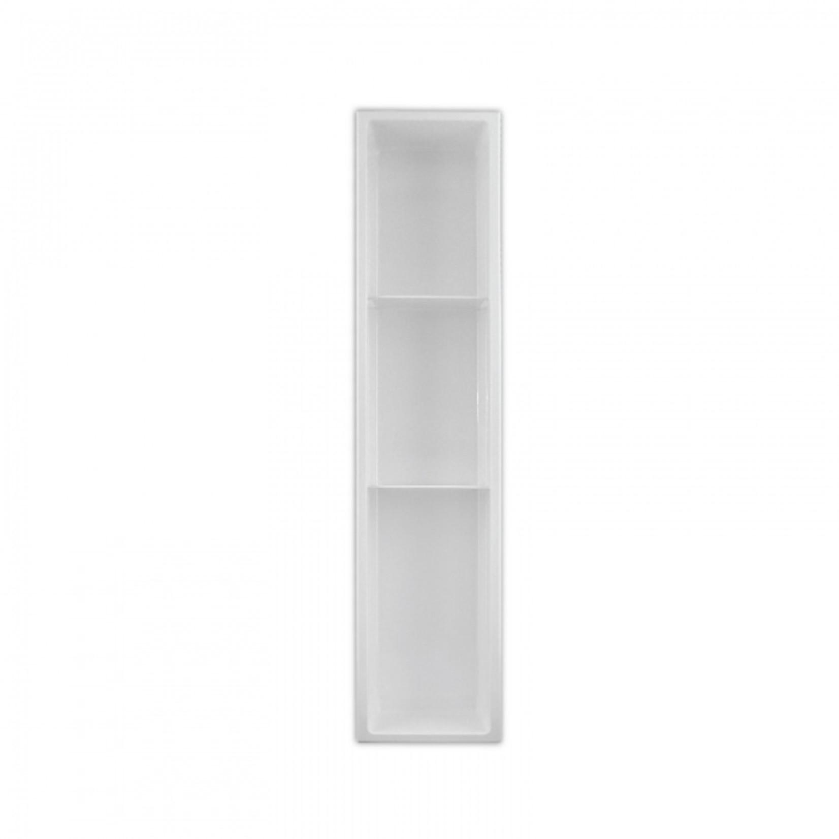 Wall niche with 2 shelves 36x8 White Nautika NI368TW