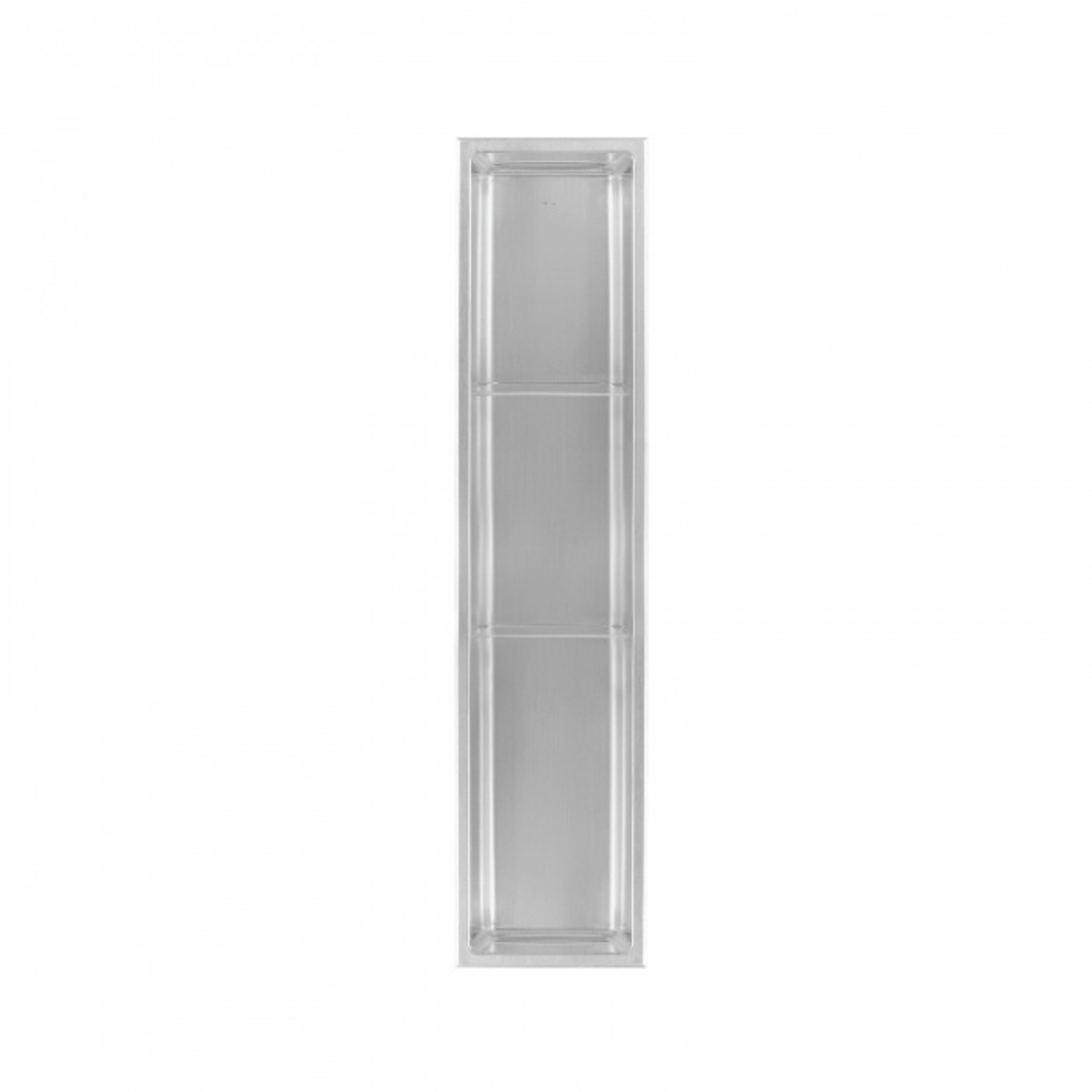 Wall niche with 2 shelves 36x8 Stainless steel Nautika NI368T