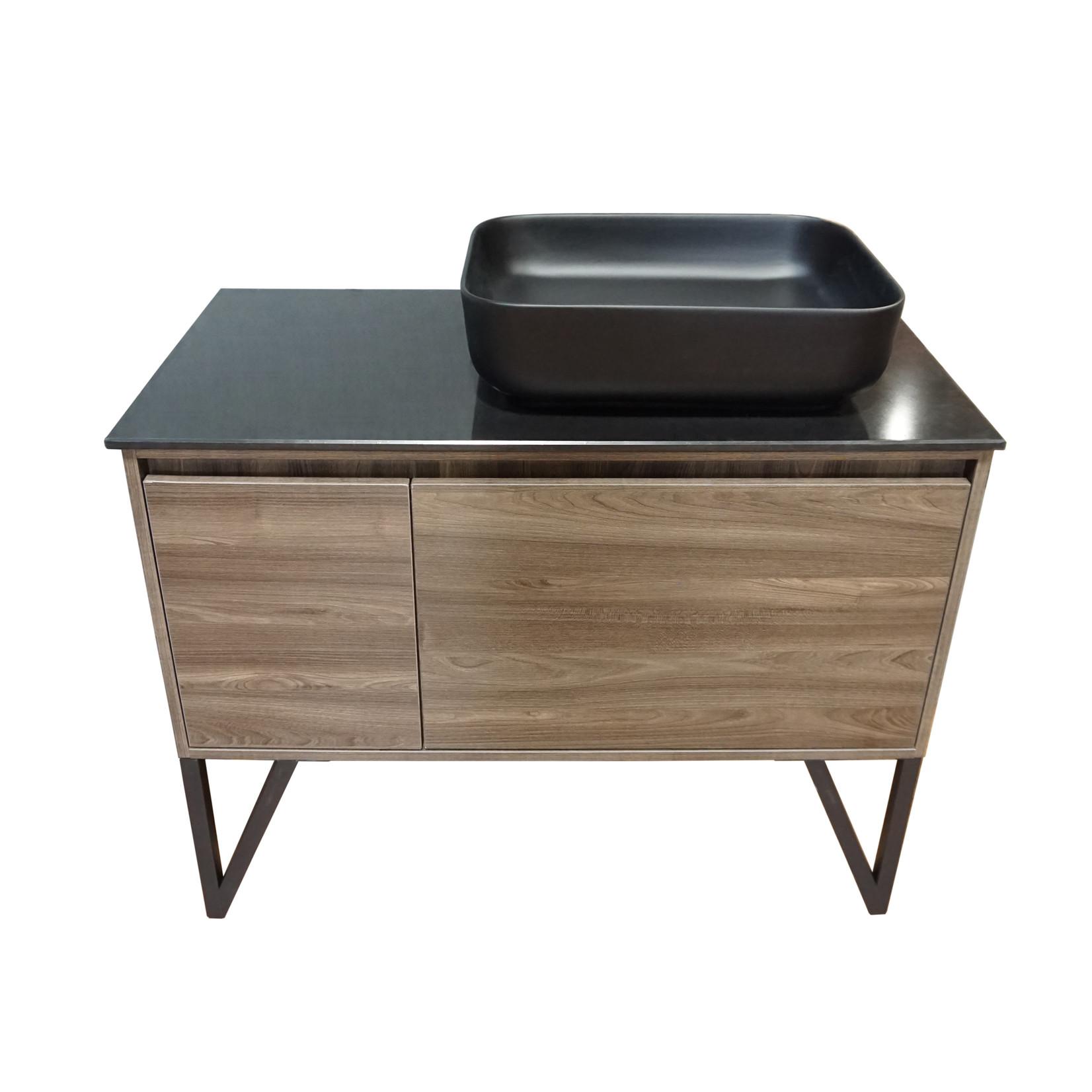 40 '' wood effect black sink vanity CDC 90139
