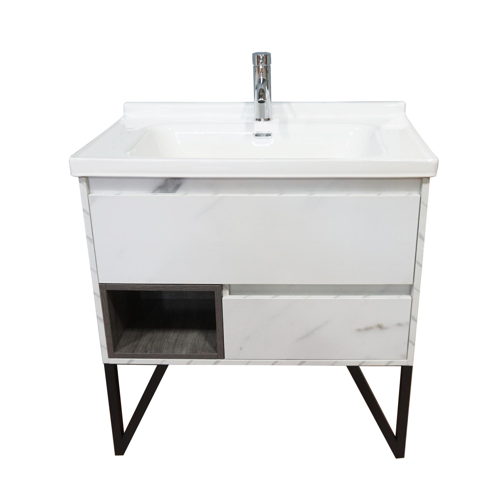 Vanity 32'' marbled white CDC 90131
