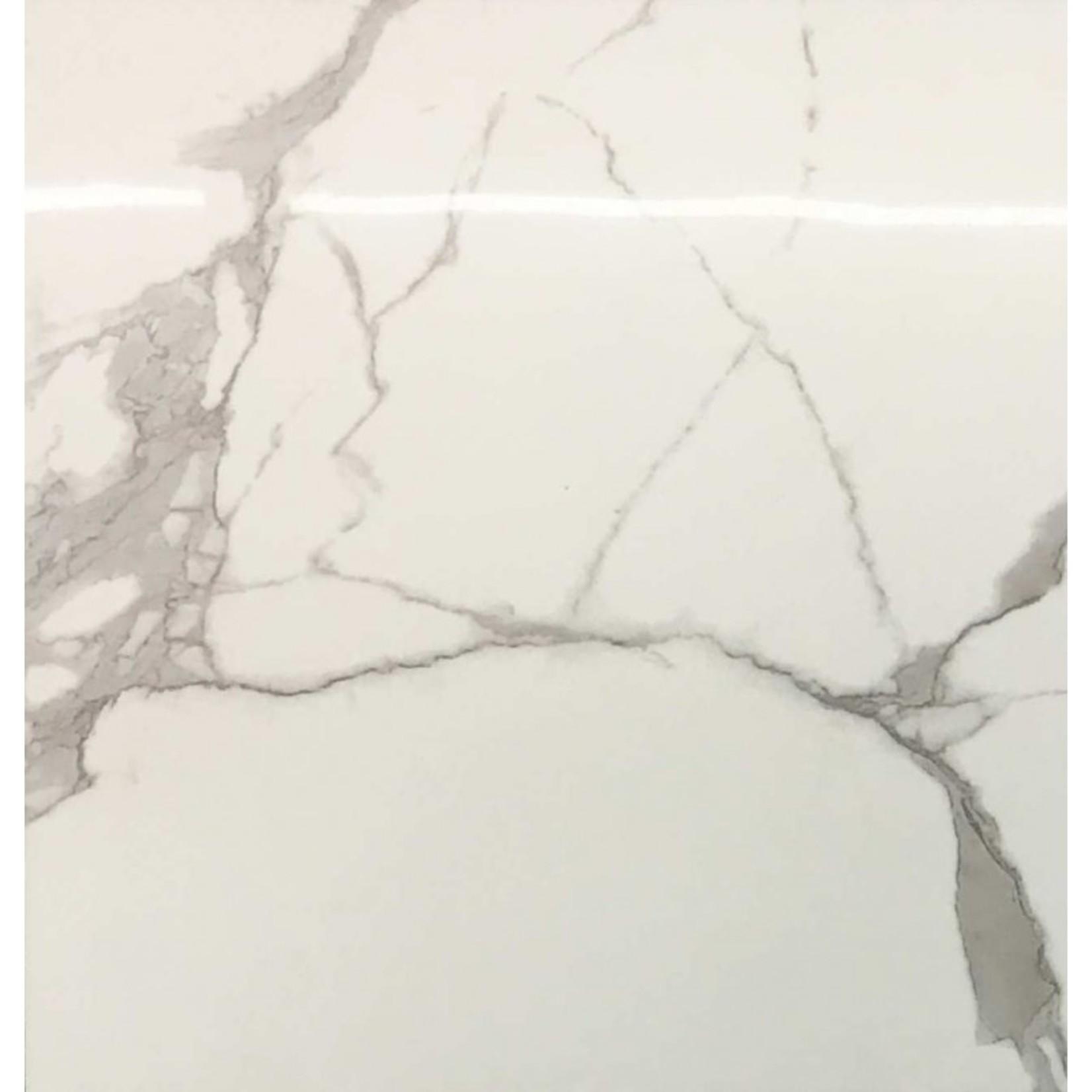 Ceramique 2424-6610 style calacatta blan lustre 16pc par boite