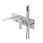 Chrome wall-mounted bath faucet MI-6817-01