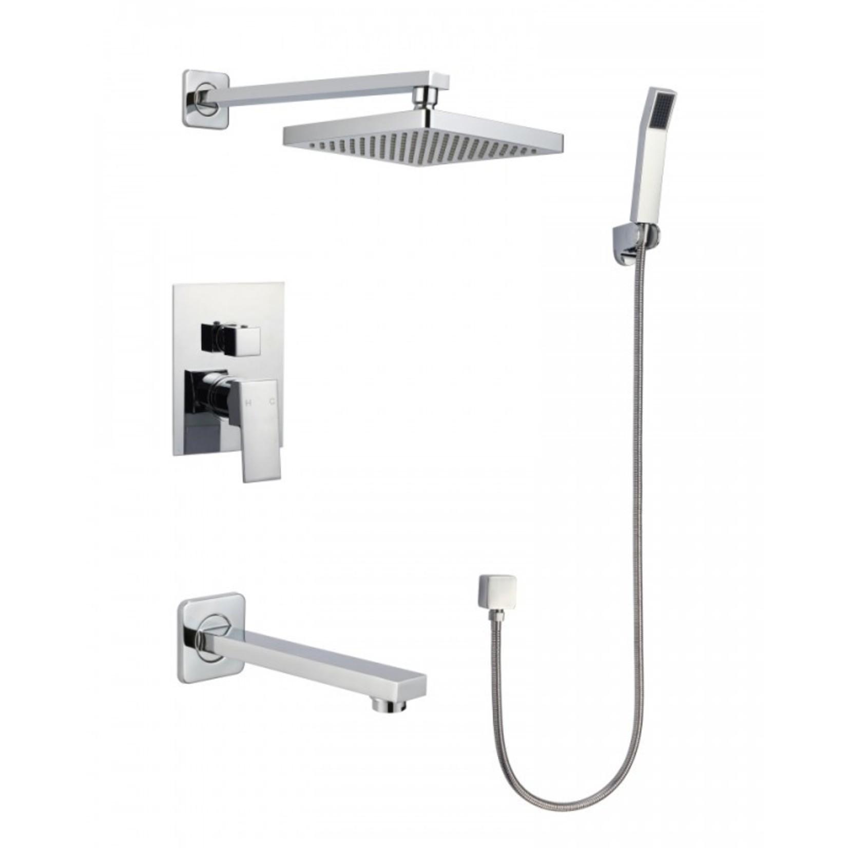 Shower faucet set Chrome Kimmi collection 6h26