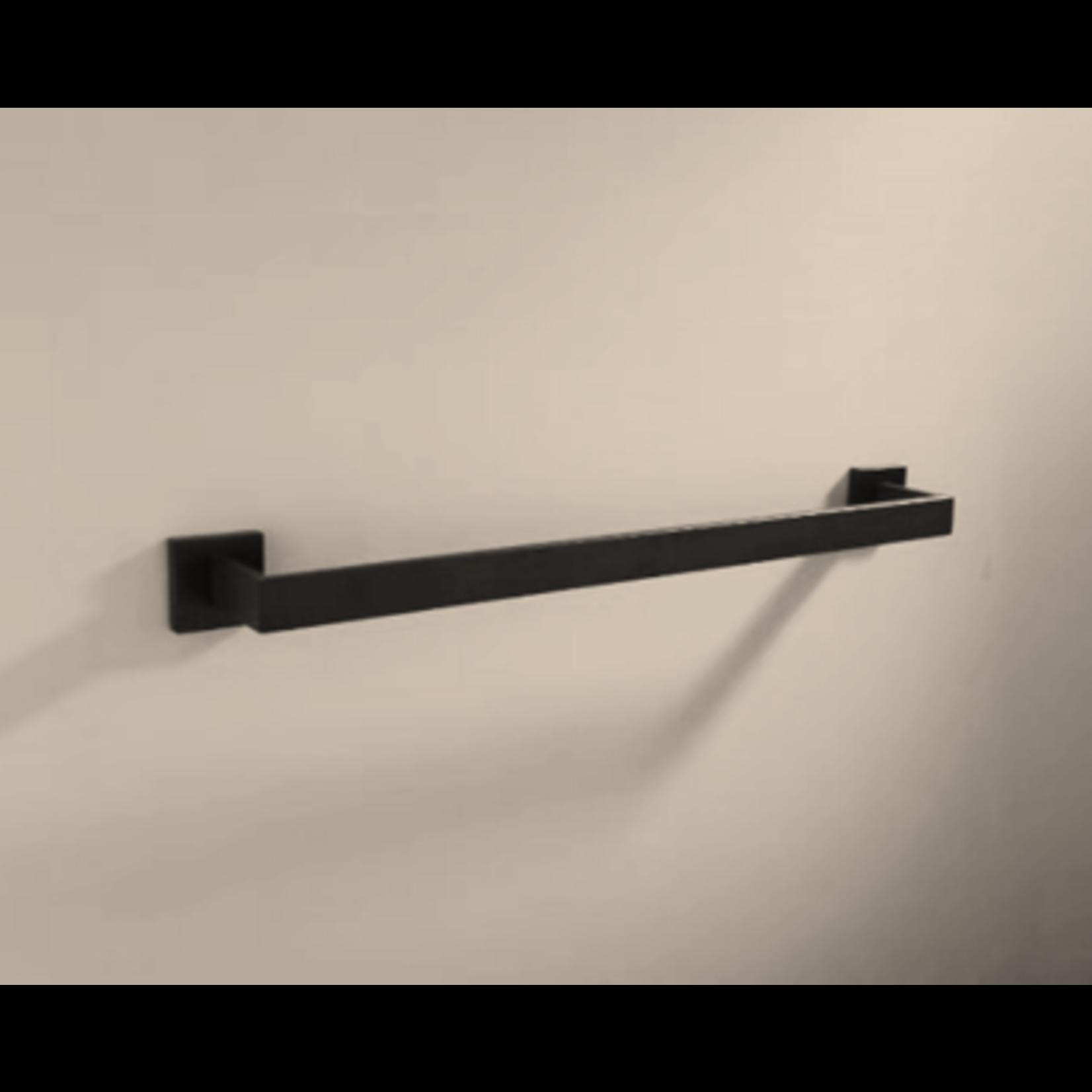 Barre a serviette simple 24'' noir MI-7001-11