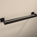 Barre a serviette double 24'' noir MI-7002-11