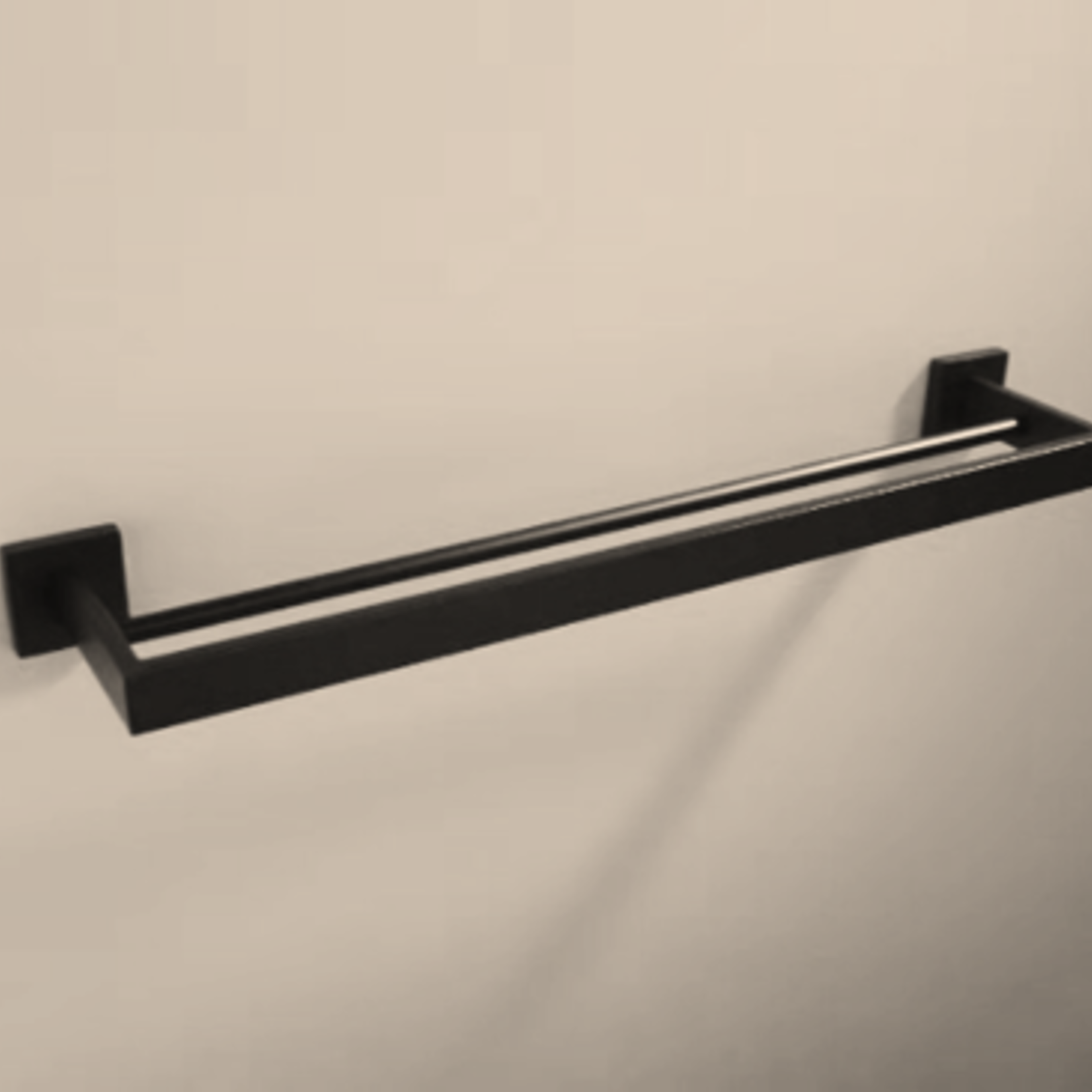 Double towel bar black 7002-11