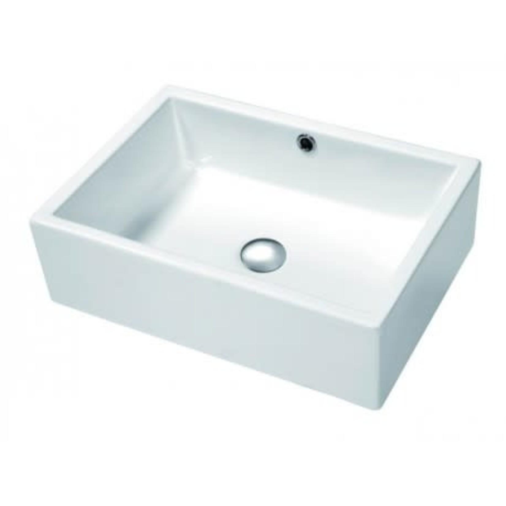 Vasque en porcelaine 20'' blanc DI-104