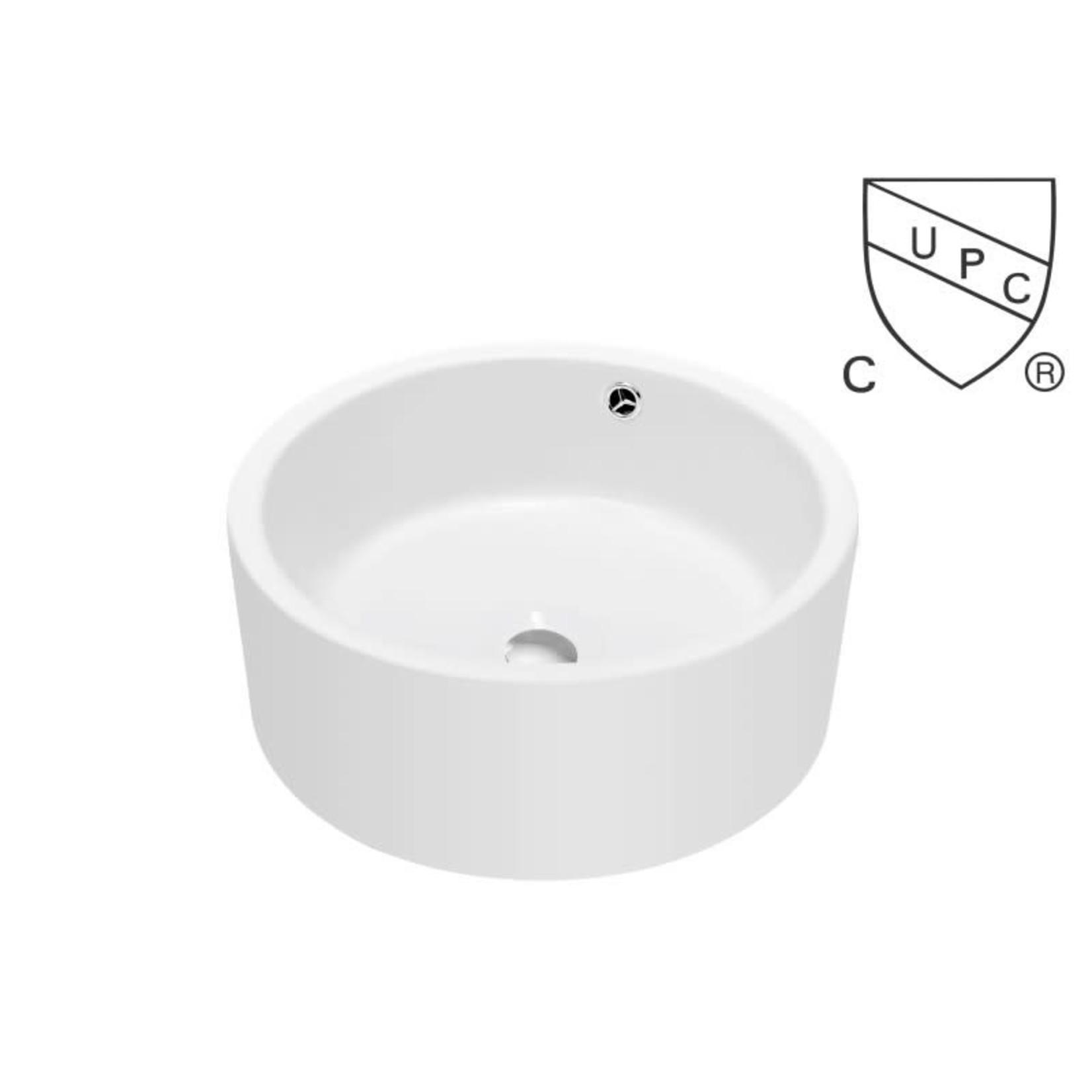 Vasque en porcelaine blanc DI-134537