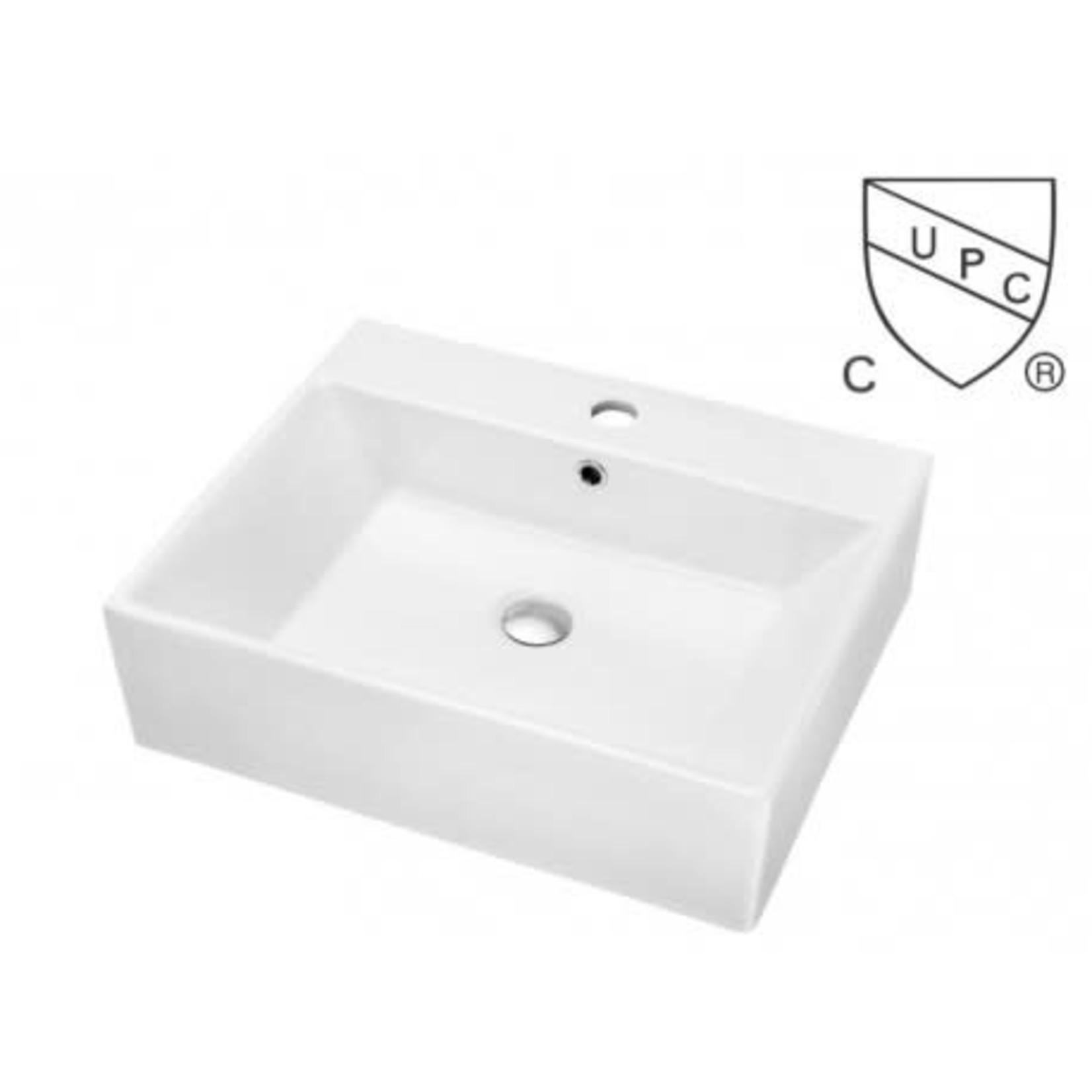 Vasque en porcelaine 20'' blanc DI-107016