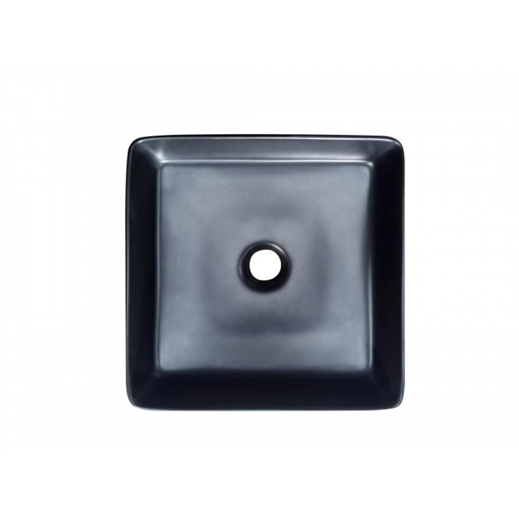 Vasque en porcelaine 14'' noir DI-20536B