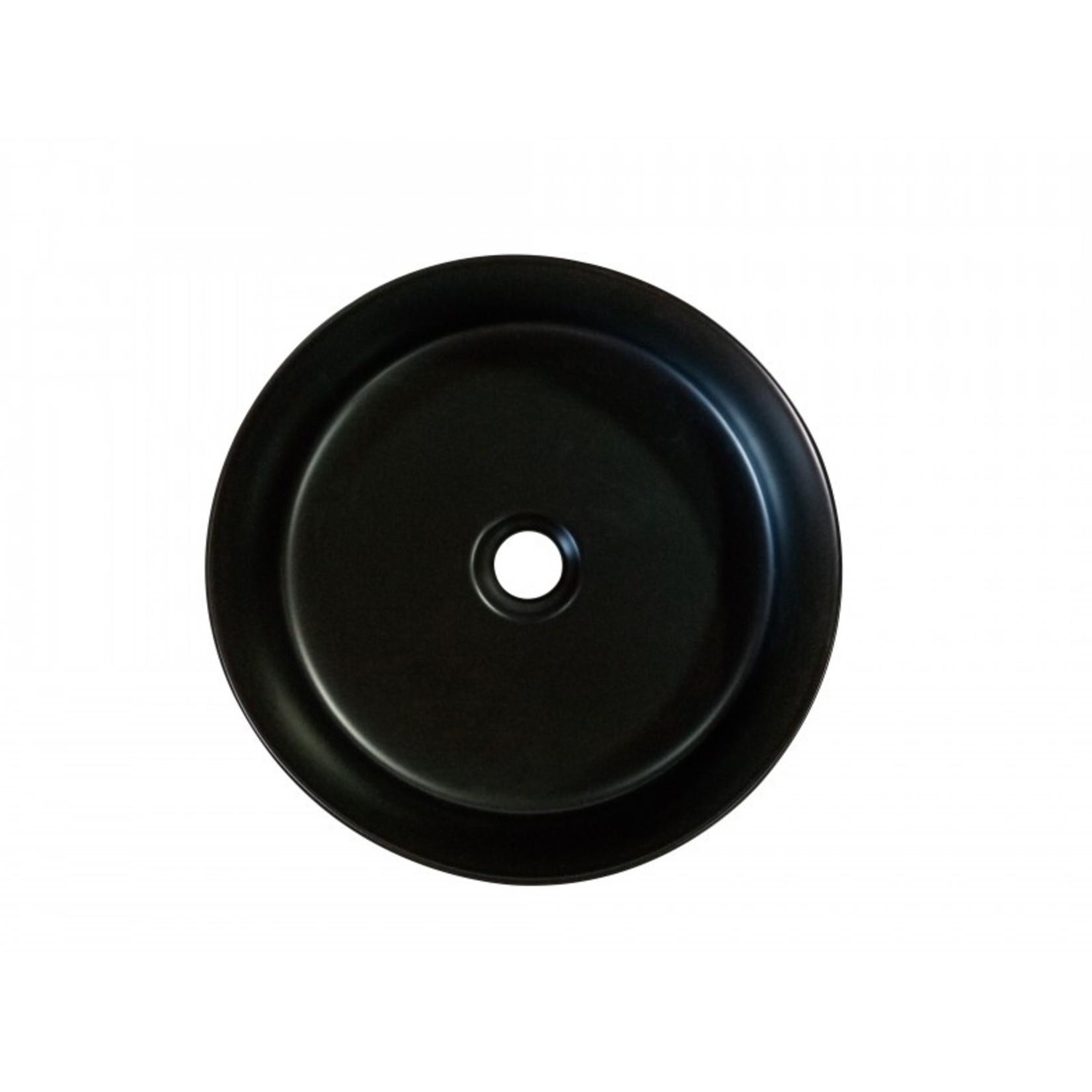 Vasque en porcelaine 14'' noir DI-222-35-B
