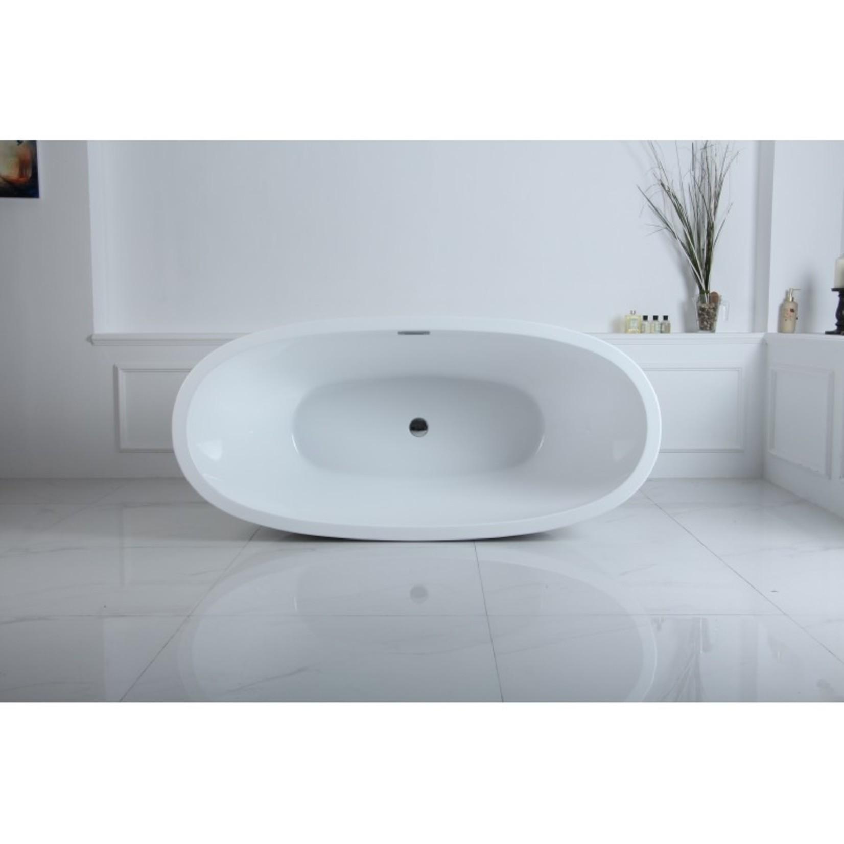 Bain autoportant Amon 67'' blanc DI-02588