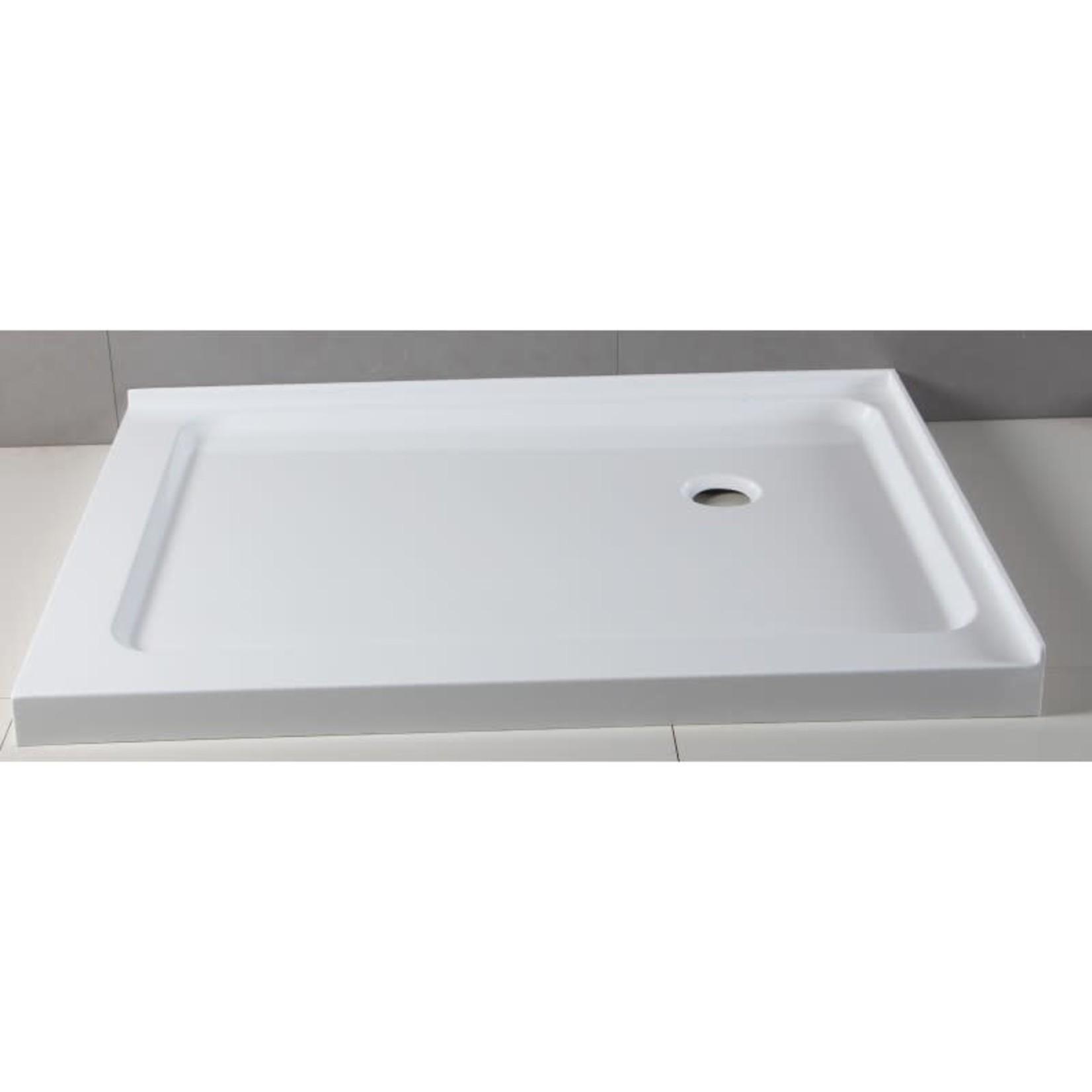 Shower base 36x48 drain at 12-12 Straight installation Apo DI