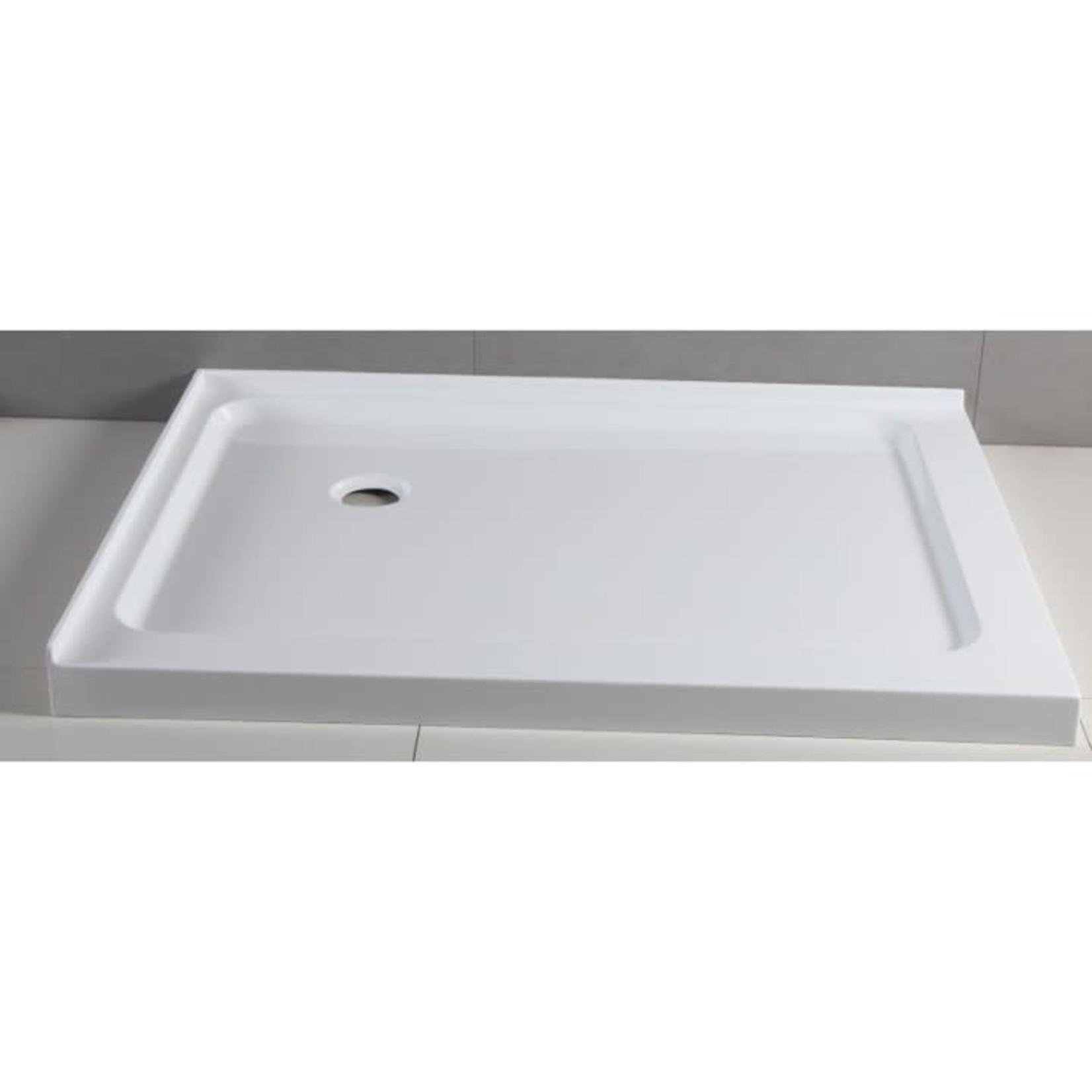 Shower base 36x48 drain at 12-12 Left installation Apo DI