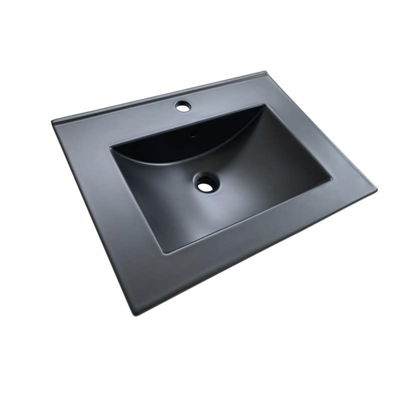 Lavabo en porcelaine 24'' X 18'' Noir DI-20260-B