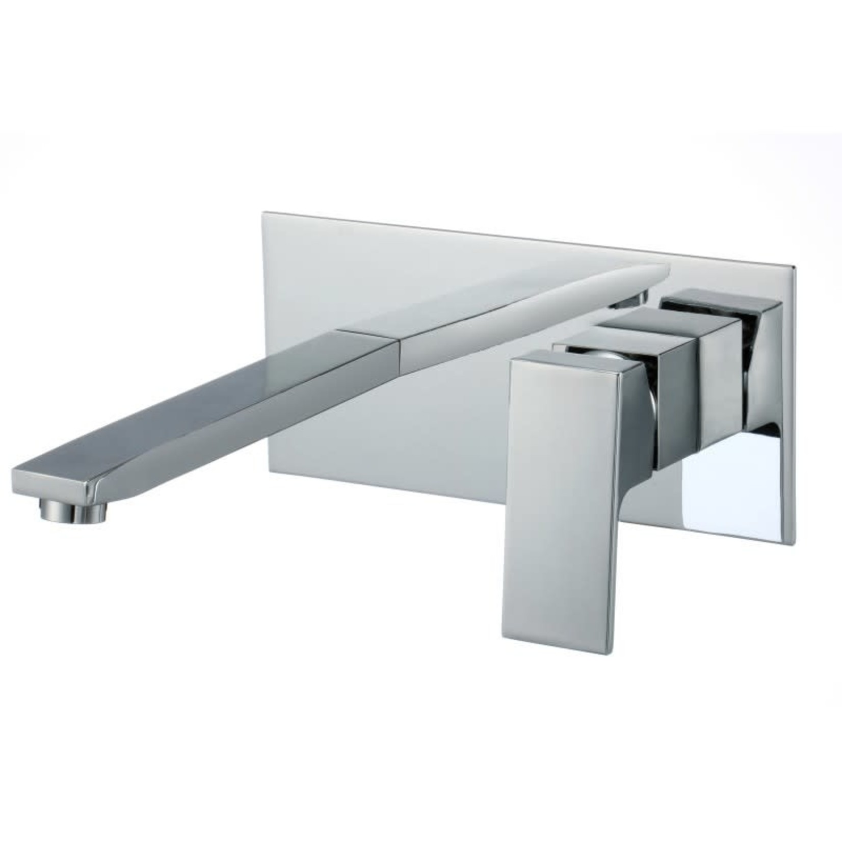 Chrome wall-mounted washbasin faucet Kimmi collection 606chr