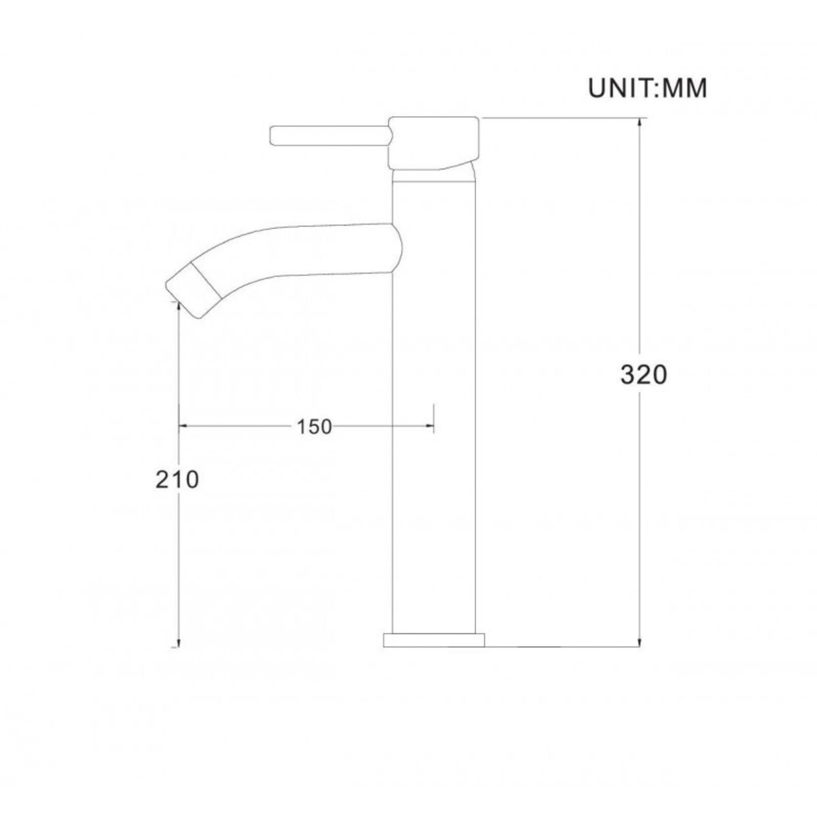 Chrome washbasin tap 114-10